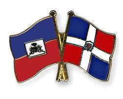 Haiti-DR flag pin-unity