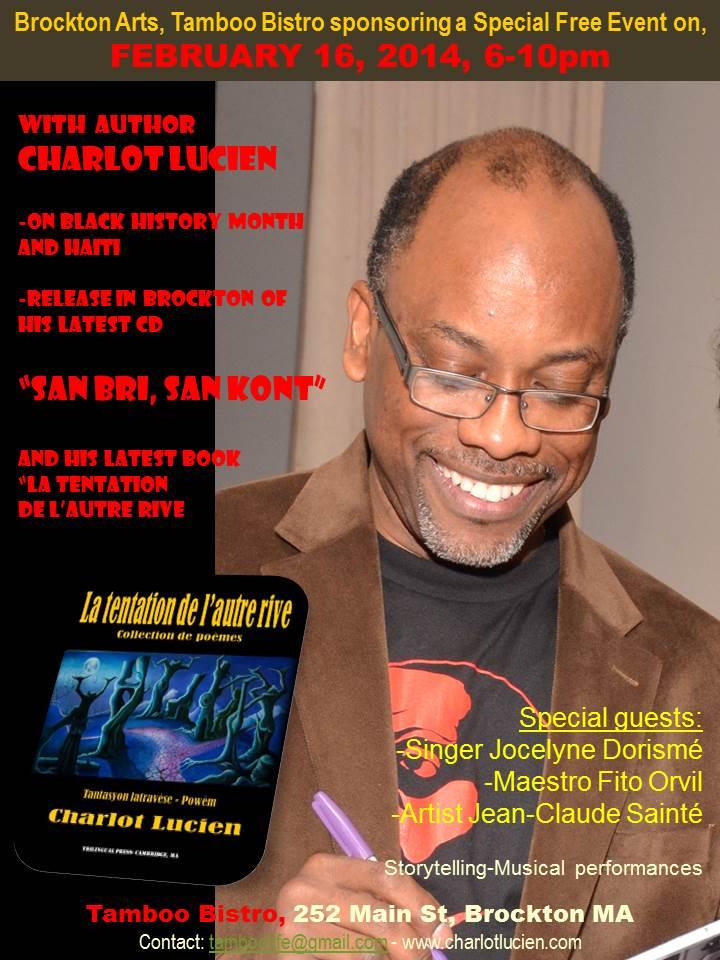 CD release Charlot Tamboo Feb 16 2014