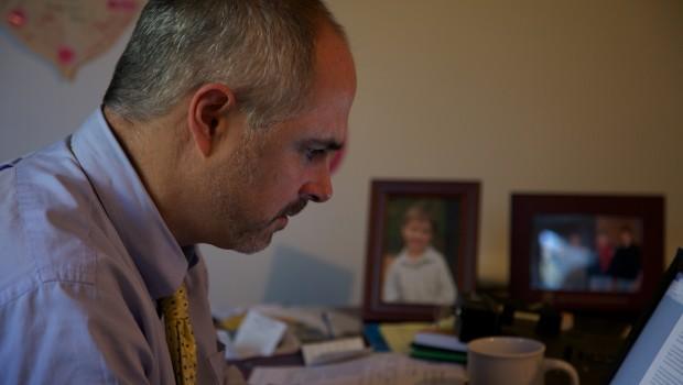 Brian at desk