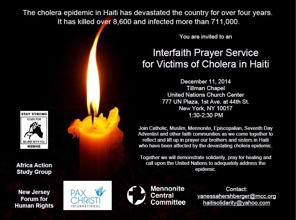 Interfaith-Cholera