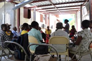 Women at a Saturday meeting at BAI