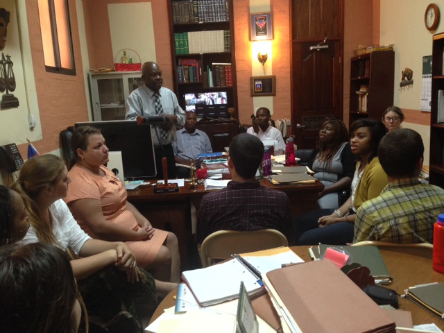 Centenary College Students in Mario's Office