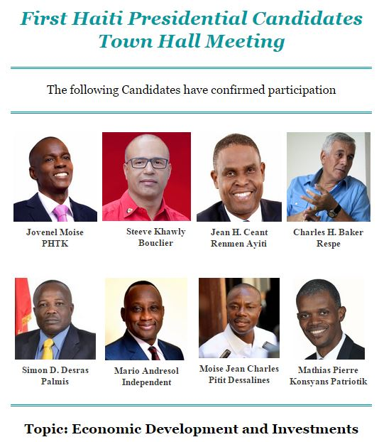 First Haiti Presidential Candidates Town Hall Meeting