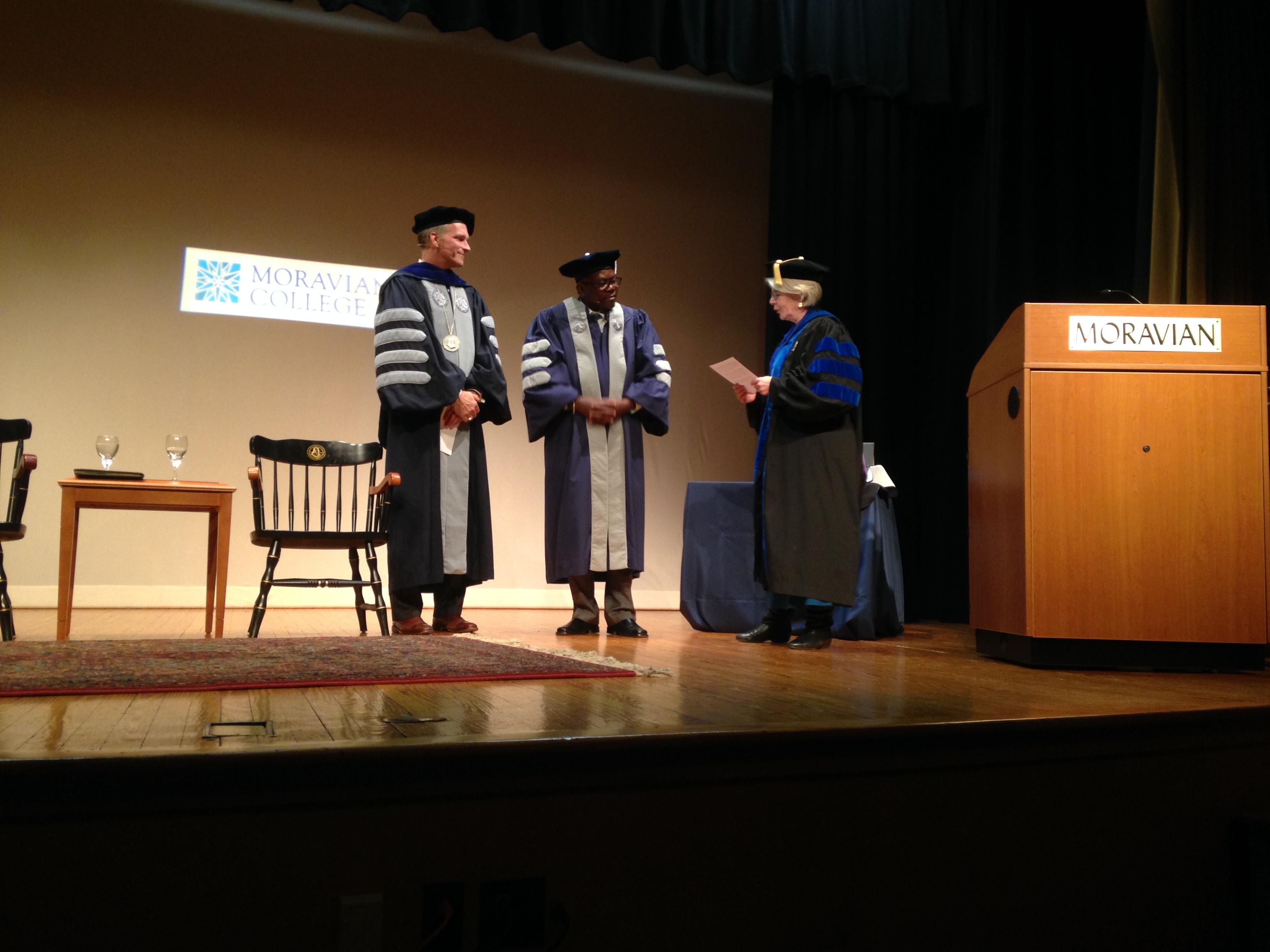 Mario Moravian College award