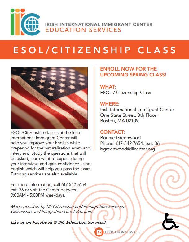 ESOL-Citizenship Class - IIIC