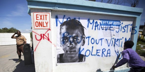 Cholera Victims to Protest as UN Security Council Lands in Haiti