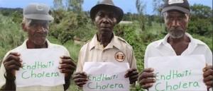 EndHaitiCholera - four Haitian men