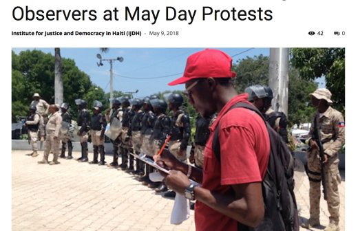 BAI & NLG Debut Haiti's First Legal Observers at May Day Protests