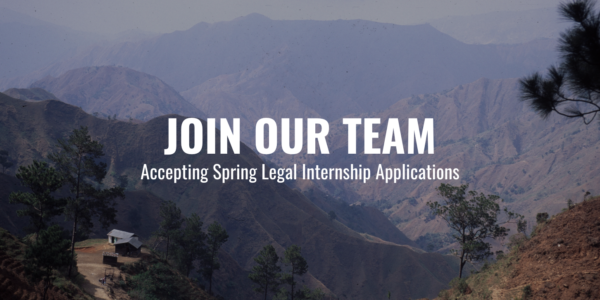 Accepting Legal Internship Applications for Spring 2020