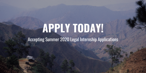 Apply to our Summer 2020 Legal Internship