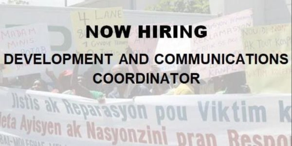 Now Hiring: Development & Communications Coordinator