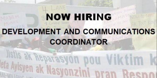 Now Hiring: Development & Communications Coordinator